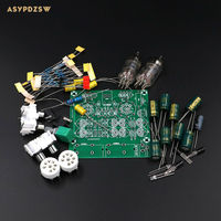 Audiophile 6J1 Tube Preamplifier Headphone Amplifier Power Amp Tube Buffer DIY Kit Base On Music Fidelity
