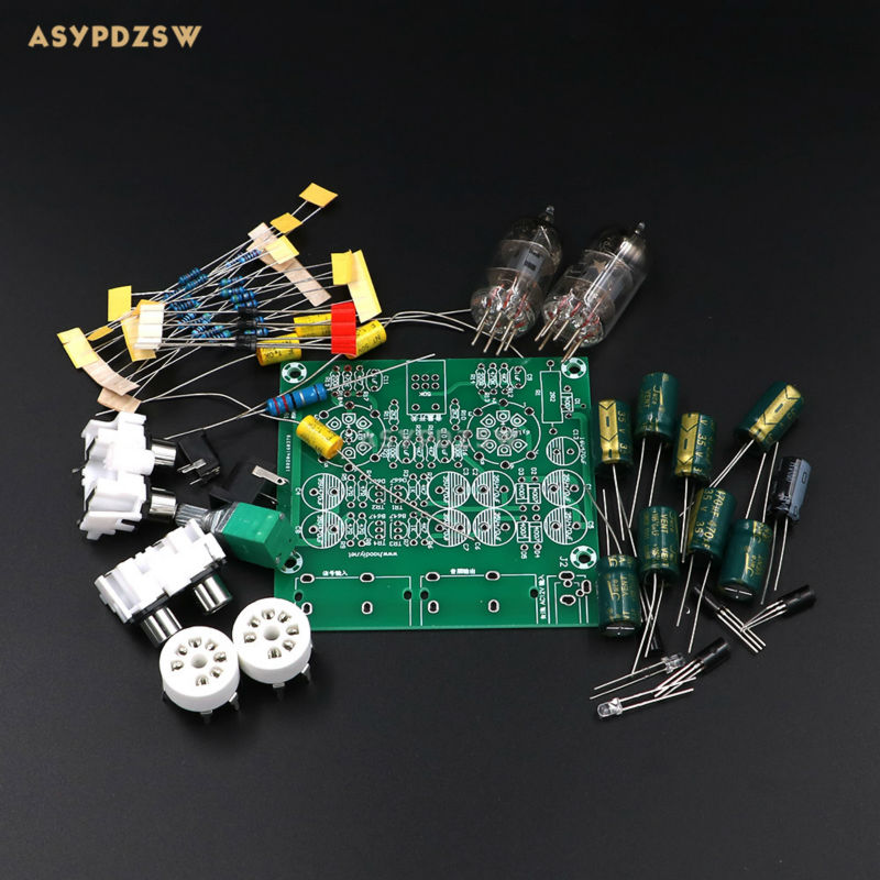 Audiophile 6J1 <font><b>Tube</b></font> <font><b>preamplifier</b></font> Headphone power amplifier Power amp <font><b>tube</b></font> buffer DIY kit Base on music fidelity X-10D circuit image
