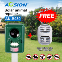 Buy AOSION Outdoor Solar Powered Animal Repeller Garden Yard Birds Dogs Cats Repellent Got Electric Mosquito
