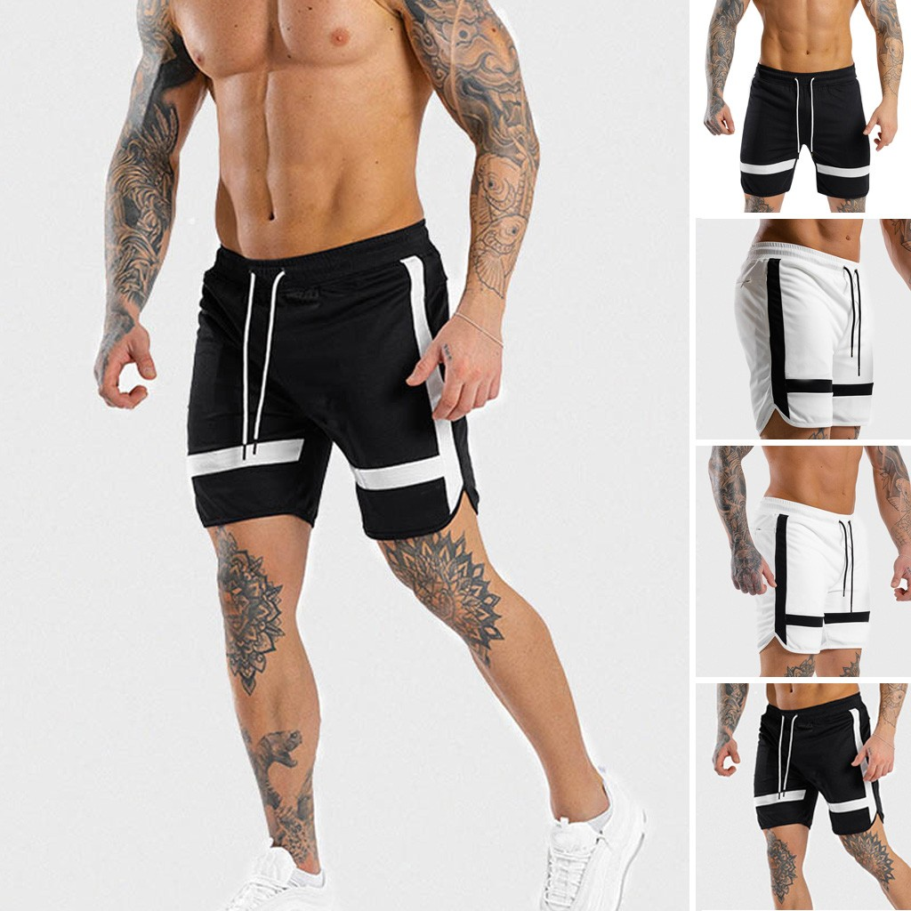 Hot Selling New 2019 Men's Shorts Sports Running Hip Hop Trousers Casual Sports Cropped