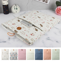 New Cotton Linen Cloth Laptop Bag Cover For Macbook Air Pro 13 3 Laptop Sleeve Case
