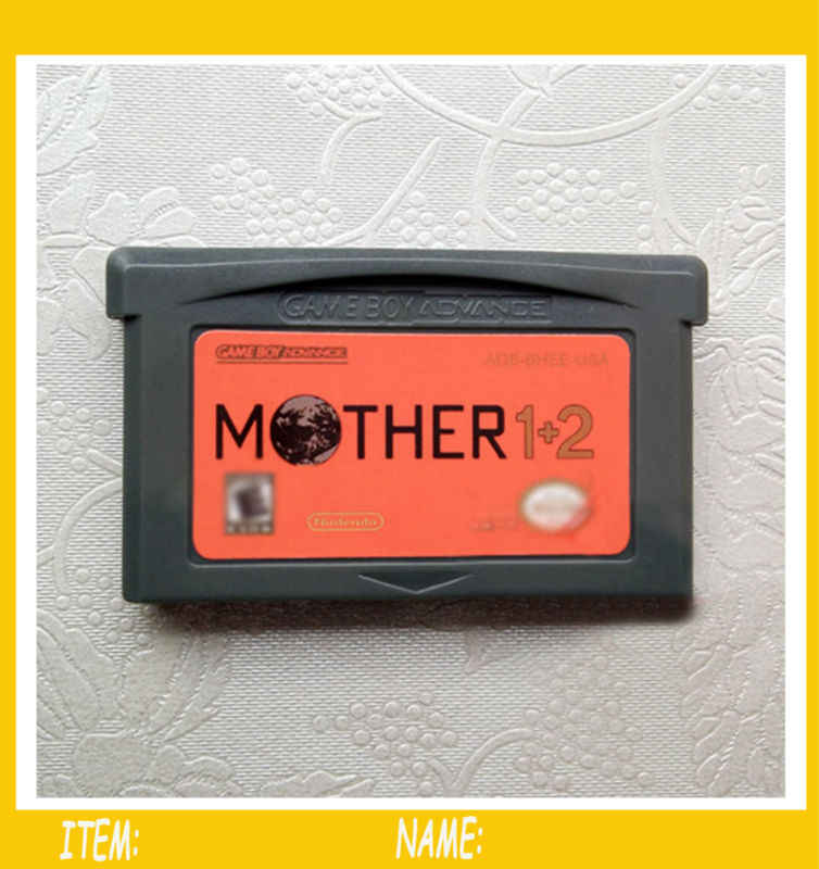 100pcs Nintendo GBA Game Mother 1+2 Video Game Cartridge Console Card EU English Language