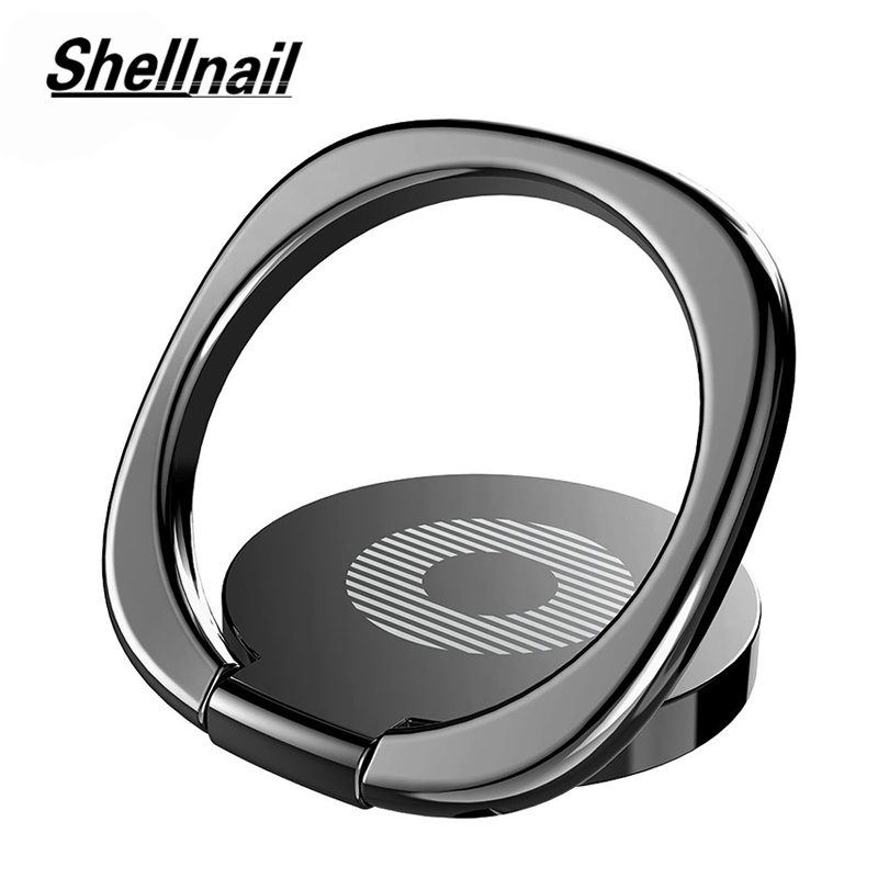 SHELLNAIL General Phone Finger Ring Holder 360 Degree Mobile Phone GPS Stand For IPhone Samsung Xiaomi Phone Tablet Plain Bague
