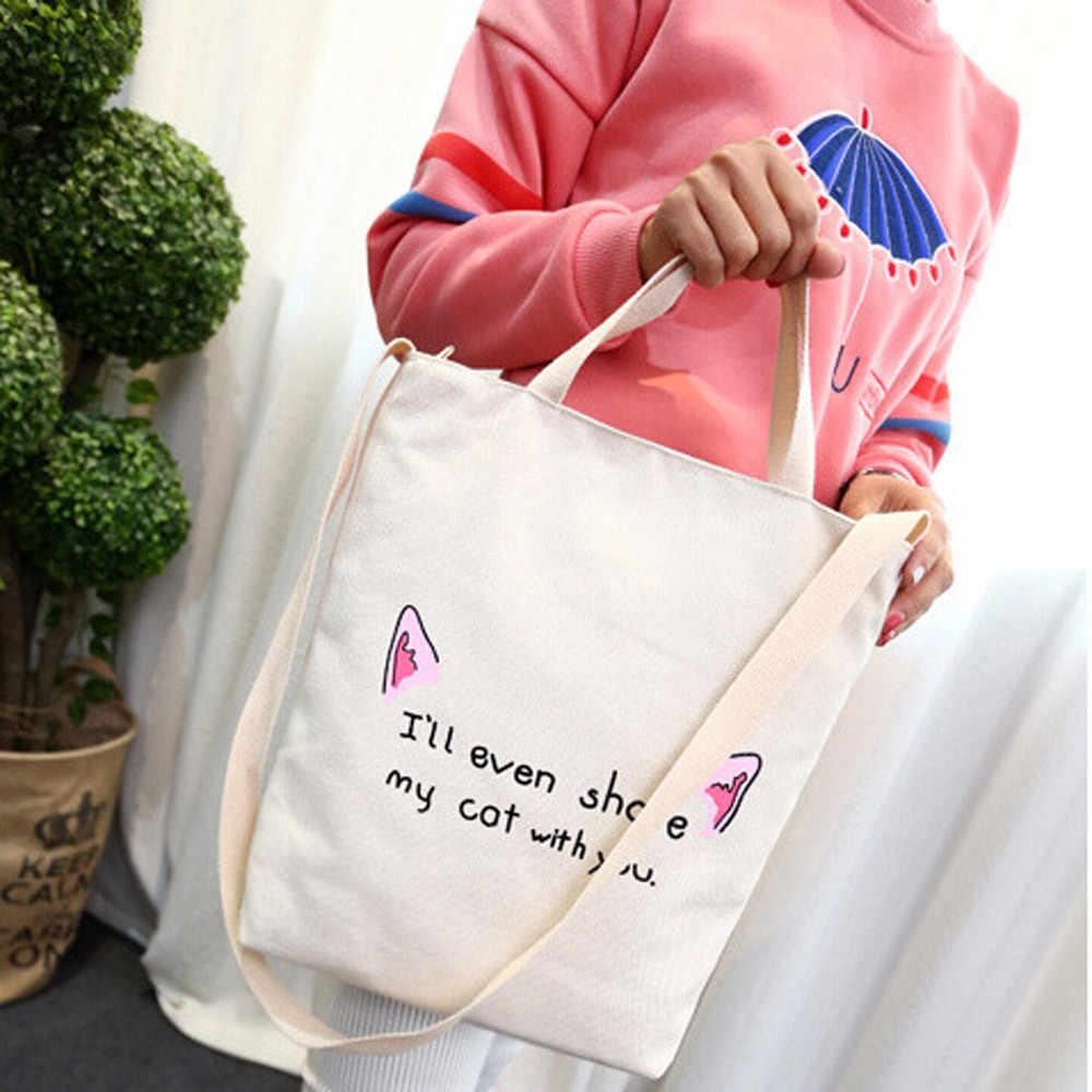 2019 Casual schulter große kapazität einfache einkaufstasche Nette Leinwand Tote Weibliche Einzelne Tasche Handtasche Griff Messenger Taschen 5,17