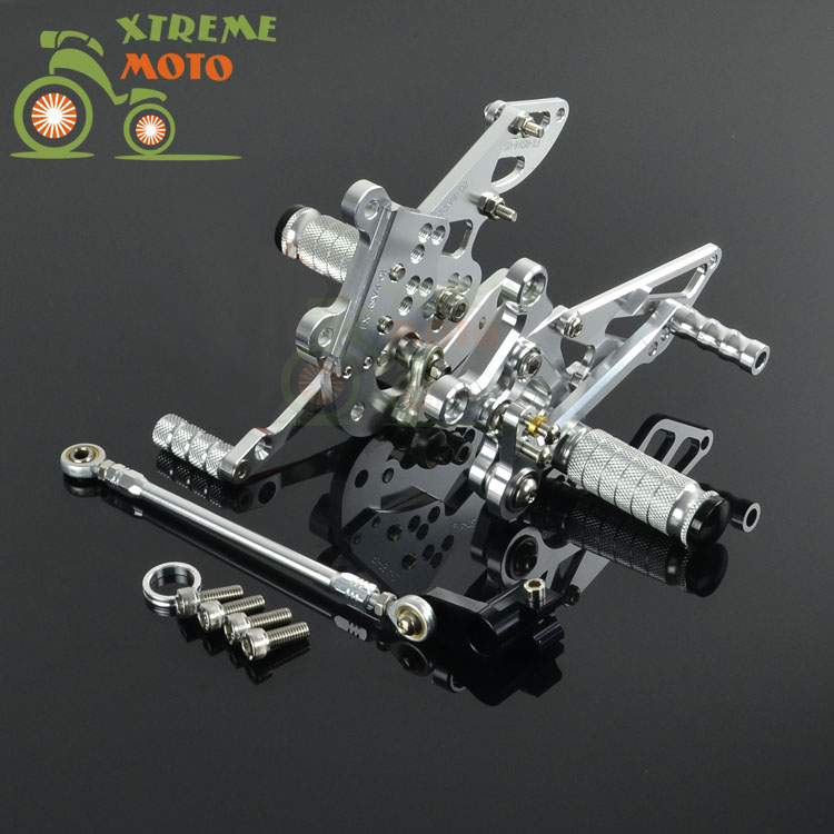 CNC Adjustable Motorcycle Billet Foot Pegs Pedals Rest For APRILIA RSV4 2009 2010 2009 2010 09