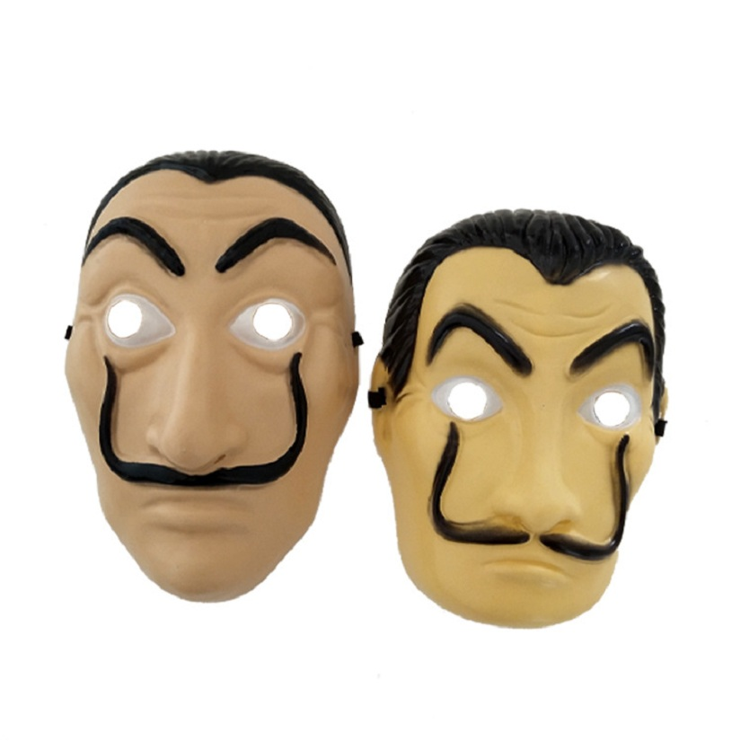 La Casa De Papel Mask Salvador Dali Cosplay Plastic Mask Halloween Realistic Adult Party Props Masks