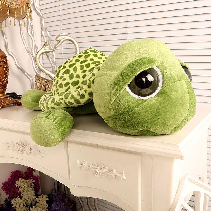 20cm Stuffed Plush ცხოველები Super Green Big Eyes - პლუშები სათამაშოები - ფოტო 5