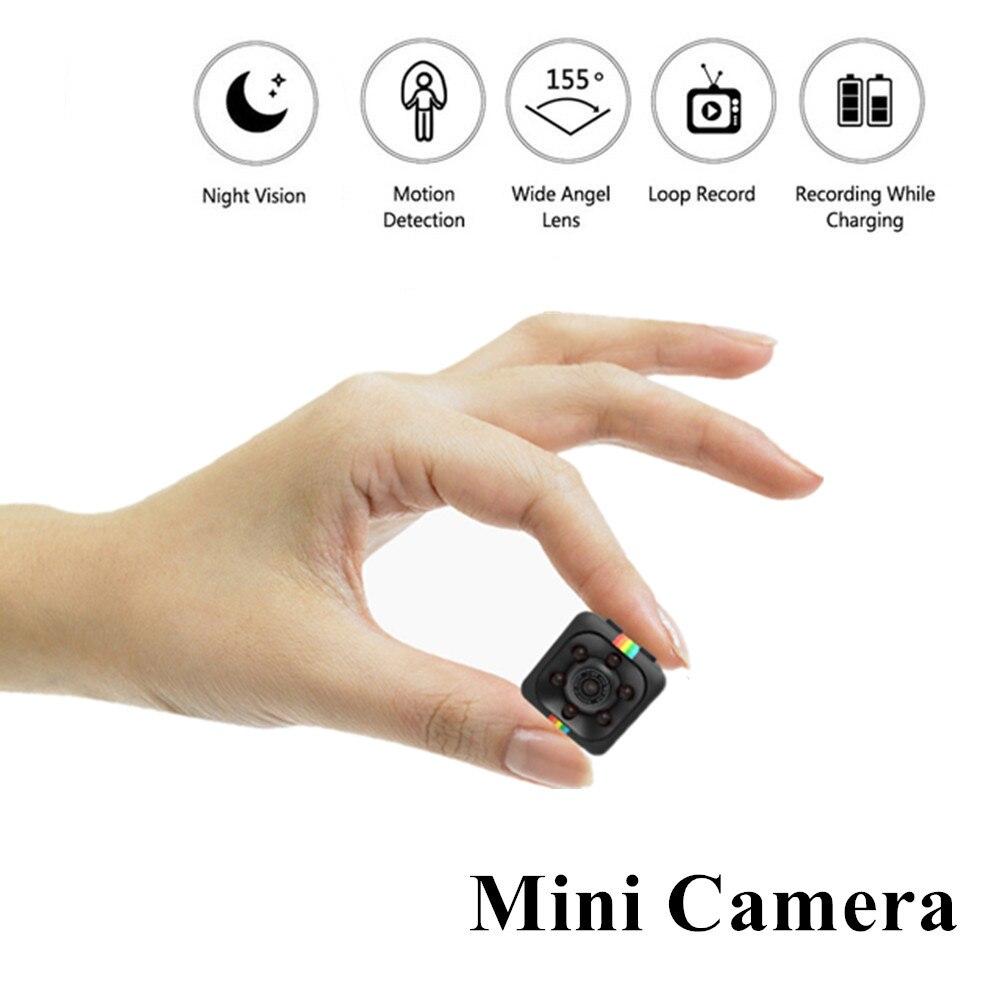 SQ11 HD mini cámara pequeña cam 1080 p Sensor de visión nocturna Cámara Micro cámara de vídeo DV DVR Cámara videocámara grabadora de SQ 11 SQ9