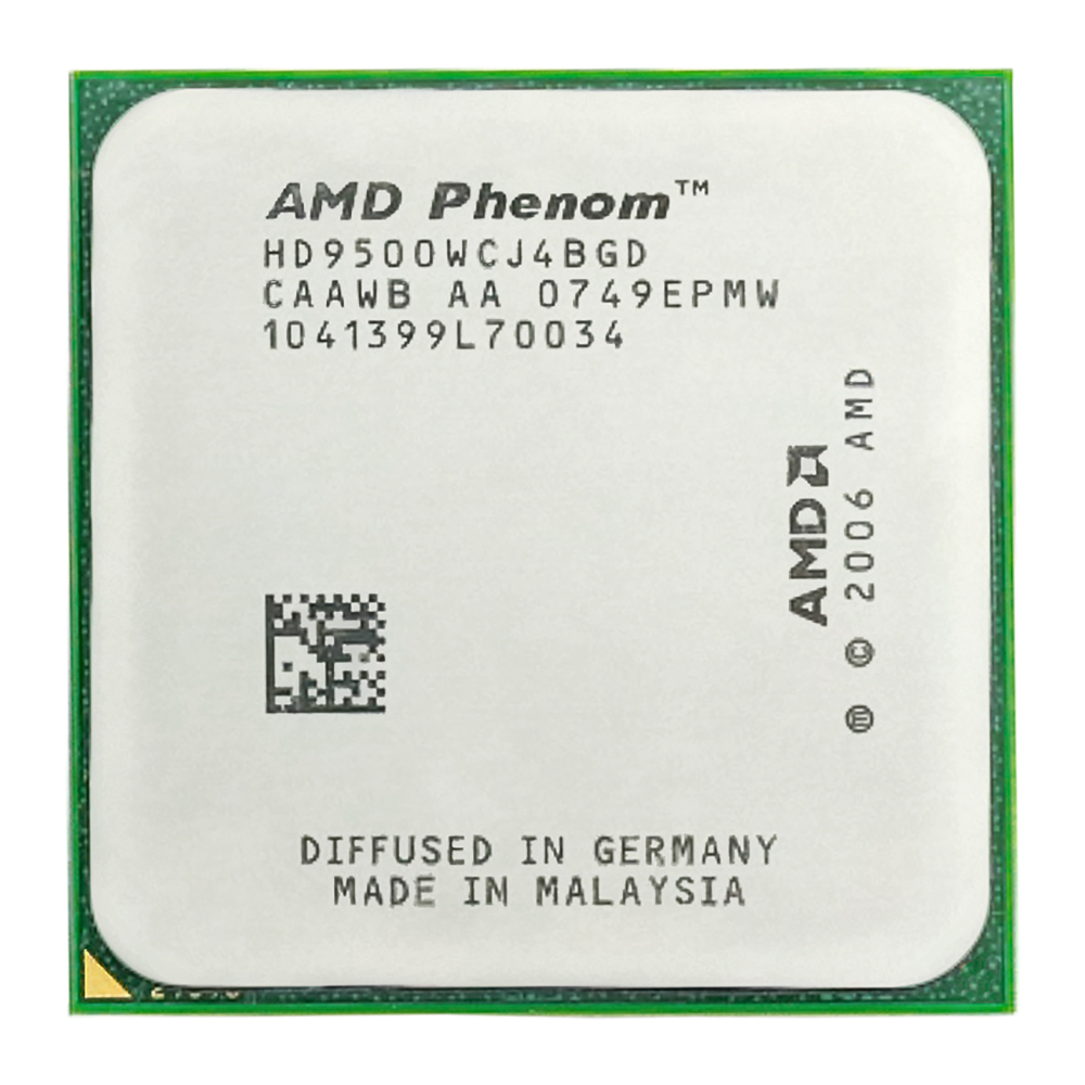 AMD Phenom X4 9500 CPU Processor Quad-CORE (2.2Ghz/ 2M / 95W /) Socket am2+ image