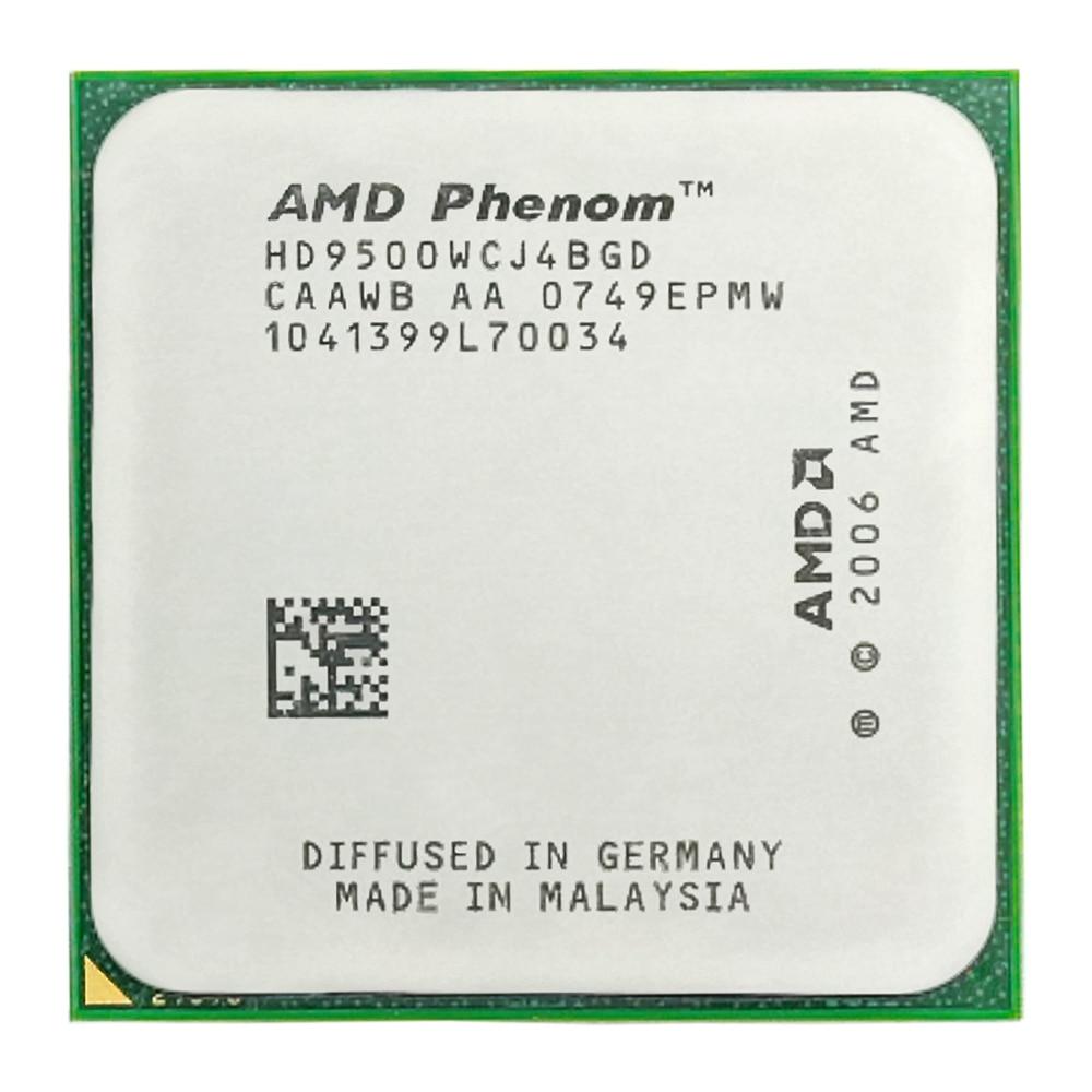 Processeur d'unité centrale AMD Phenom X4 9500 Quad-CORE (2.2 Ghz/2 M/95 W/) Socket am2 +
