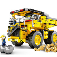 Technics Engineering vehicle Mining truck Transport Vehicle bricks miner figures assemable building block education toy for gift