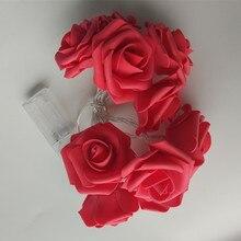 YIYANG на День святого Валентина, стиль, 1,5 м, светодиодный светильник с розами для вечеринок, праздников, свадеб, декоративных ламп, 10 роз для дома KTV