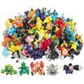 50 pçs/lote Pikachu Pokeball Mini Anime Figura Brinquedos Bolso Eevee Espeon Umbreon Vaporeon Glaceon Bonecas Modelo Estatueta Presente