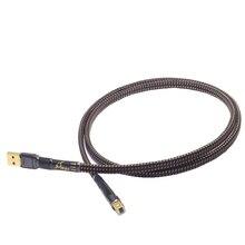 HiFi MPS HD 990 HiFi 99.9999% OCC + 실버 도금 24K10u 금도금 플러그 USB2.0 3.0 커넥터 오디오 케이블 DAC PC 오디오 데이터 케이블