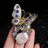 Natural baroque pearls, 925 silver luxury deserve to act the role of restoring ancient ways of Chinese style clothing