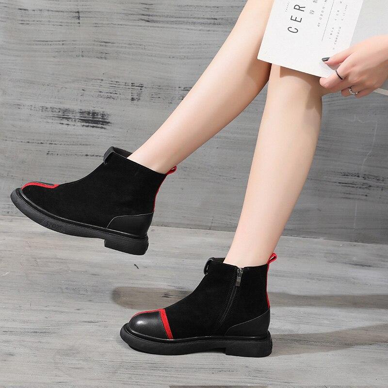 Cómodo Otoño Mujeres Marca 2018 Casual Mycolen black Zapatos Calidad Y Diseñador Botas Winter Primavera Mujer Transpirables Homme warm Aw8qvtxfq
