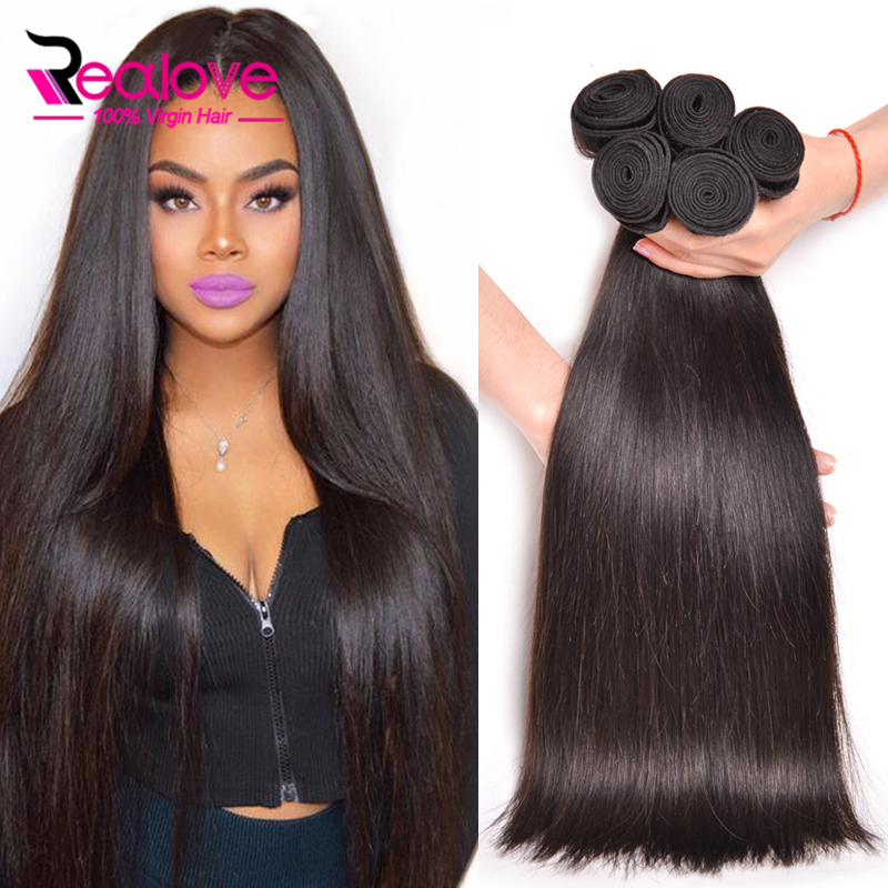 Peruvian Virgin Hair Straight 4 Bundles 7A Peruvian ...