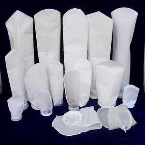 Image 5 - 5PCS Aquarium Felt Filter Sock with Plastic Ring Fish tank Marine Mesh Sump filtration Bags New material 150 200 Micron