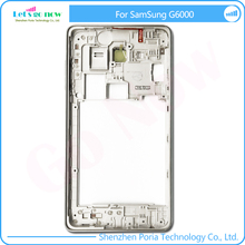 New Middle Frame Housing Case Replacement Part Bezel Battery With Camera Glass For Samsung G6000