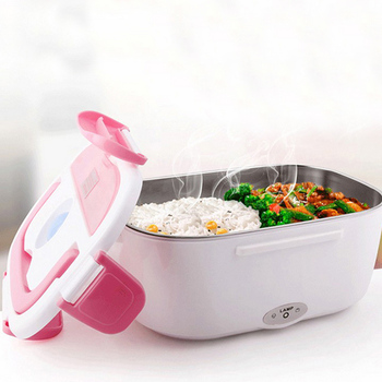 12V Car Portable Electric Heating Lunch Box Food-Grade Food Container Food Warmer For Kids Dinnerware Sets image