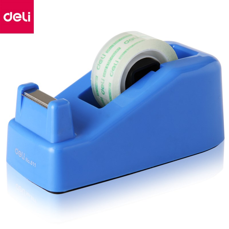 Deli 1 Pc Tape Dispenser Tape Seat Small Size for Adhesive Tape Width Less Than 18mm Bank Office Tape Cutter Random Color