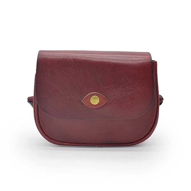 Women Bag Leather Handmade Vegetable Tanned Messenger Bag Fashion J Shoulder Bag