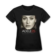 Unique Womens Adele Hello Album 25 Fashion T Shirts Round Collar Women Funny Geek T Shirts