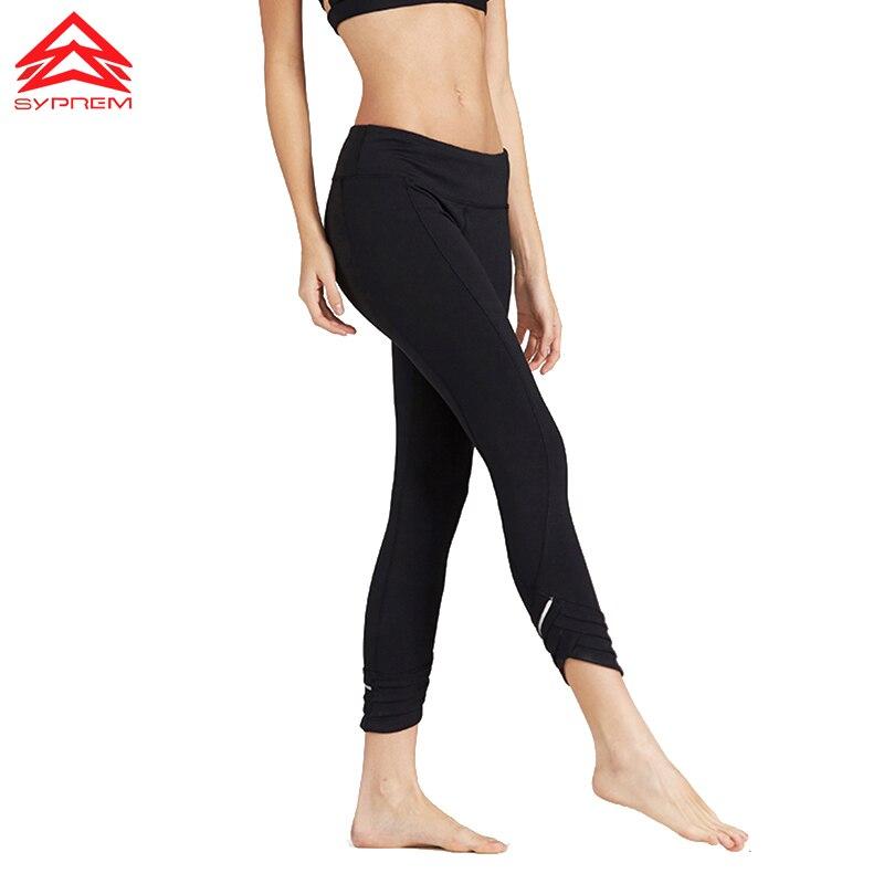 Prix pour Syprem sport Yoga pilates pantalon legging serré compression femmes Nouveau Sport Courir Gym neuvième pantalon sexy Élastique, 1FP1086