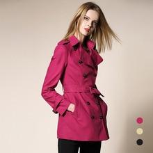 Trench Coat 2017 Fall Fashion Women's Double Breasted Turn-down Slim Cloak Plus Size Runway Khaki Outwear Windbreakers Coats