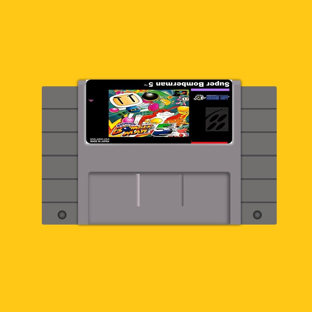 Super bomberman 5 Cartão de Jogo de 16 Bits Para OS EUA NTSC Jogador Do Jogo