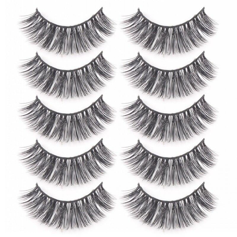 2019 New Hot 5Pairs 3D Mink Hair False Eyelashes Natural Thick Long Eye Lashes Makeup Beauty Extension Tools maquiagem in False Eyelashes from Beauty Health