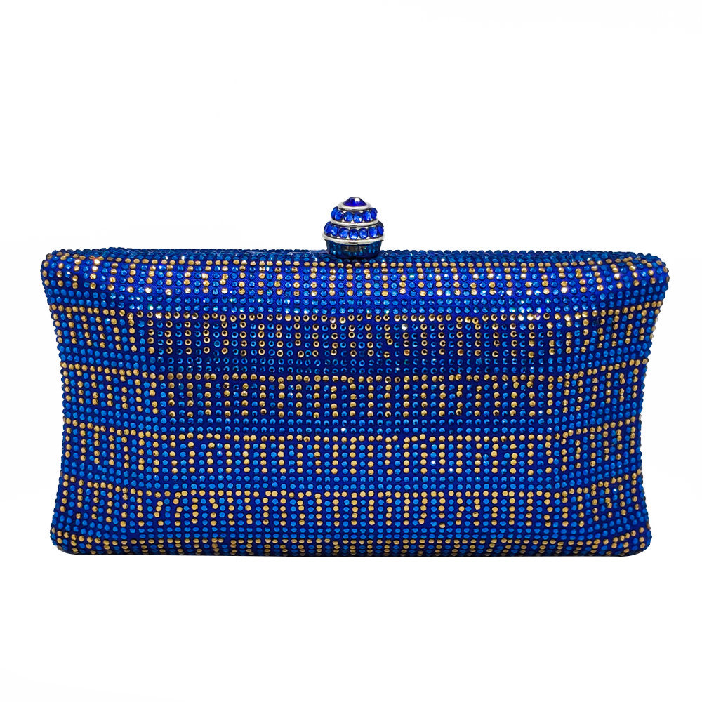 New European And American Pillow-shaped Evening Bag, Luxurious Satiny Hand Bag, Diamond-encrusted And Eye-catching Chain Bag
