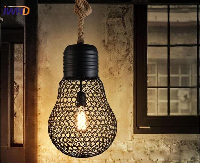 Vintage Slaapkamer Lampen : Enkele hoofd vintage industriële hanglampen antieke loft edison