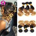 8A Mink Brazilian Virgin Hair Ombre Body Wave 3 Bundles Short Brazilian Hair Ombre Bob Human Hair Wet And Wavy Brazilian Hair