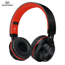 Sound Intone BT-06 Over-ear Wireless Bluetooth 4.0 Headphones Foldable Stereo with Build-in Microphone, Wired Music Headsets MP3(China)