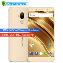 Ulefone S8 Pro Dual Rear Cameras Mobile Phone 5.3 inch HD MTK6737 Quad Core Android 7.0 2GB+16GB 13MP Fingerprint 4G Cellphone