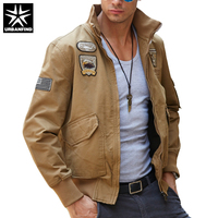 URBANFIND Military Style Men Fashion Pilot Jacket Plus Size M 4XL Brand Man Clothing Autumn Spring