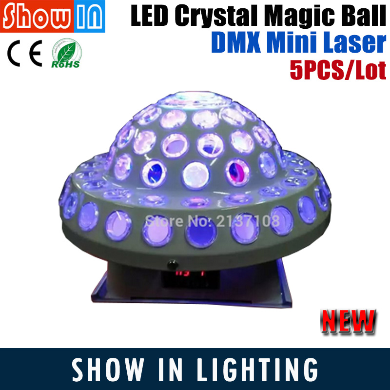 20W Mini LED Disco Crystal Magic Ball Light Christmas Laser Backlight Projector DMX DJ Party Wedding Stage Equipment Proyector mini rgb led party disco club dj light crystal magic ball effect stage lighting