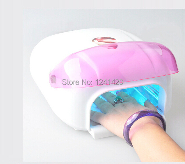 Nail Dryer 220-240V 36w Acrylic UV Gel Curing Lamp With Cooling Fan Nail Uv Led Lamp Including Uv Lights + Free Shipping