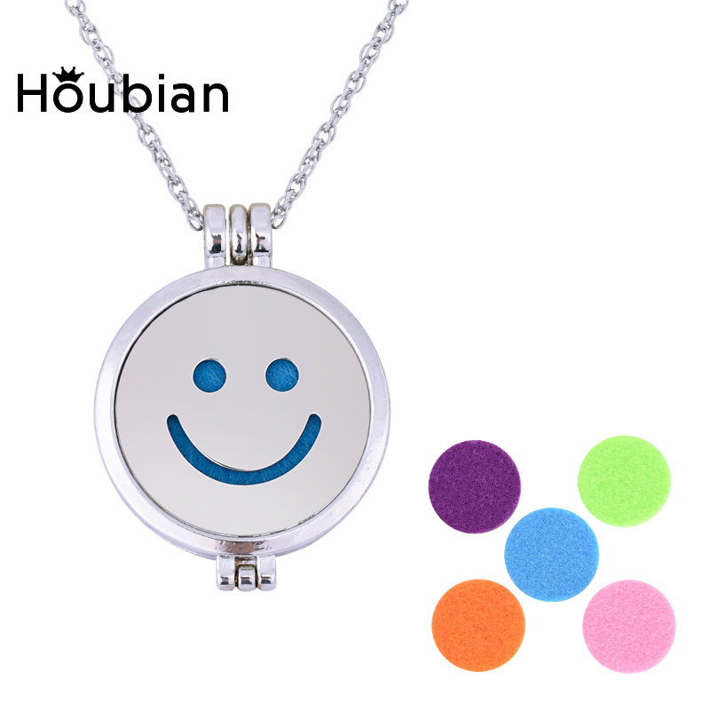 Houbian Stainless Steel Expression Package Aromatherapy Necklace Aromatic Diffuser Oil Pendant Sweater Chain Jewelry