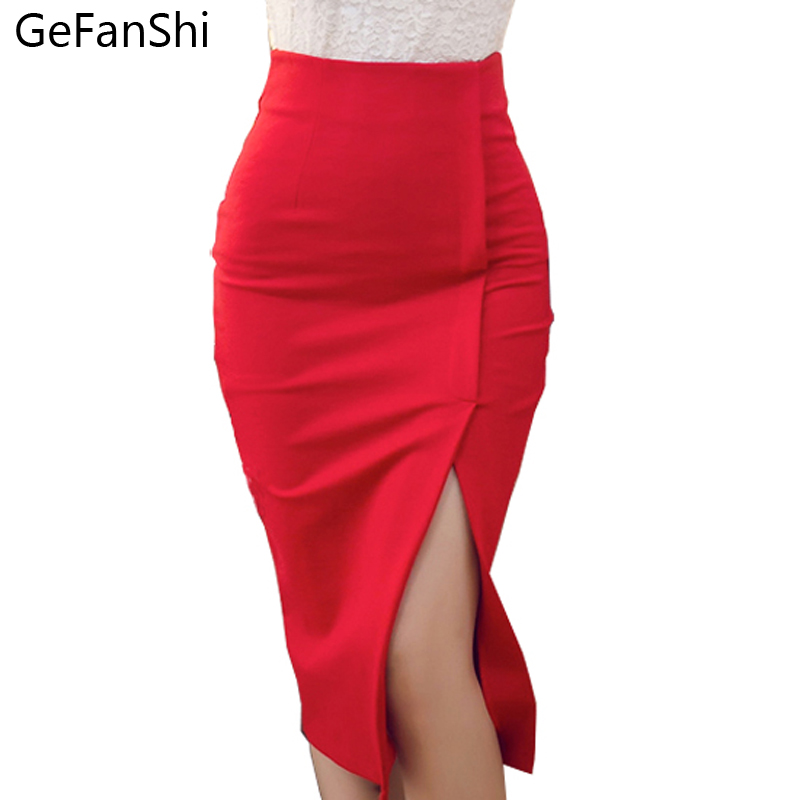 S 4XL Plus size 2017 New Spring Autumn Skirt Women Fashion ...