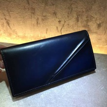 TERSE_Luxury mens wallet genuine leather handmade purse vintage 3 colros in stock wallet for man custom service hand patina