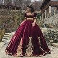 461669a05 BONJEAN Borgoña satén Vestido de Quinceanera vestidos 2019 cuello cuadrado  Vestido de 15 Anos de manga