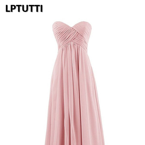 Image 4 - LPTUTTI Strapless Chiffon Plus Size New For Women Elegant Date Ceremony Party Prom Gown Formal Gala Luxury Long Evening Dresses