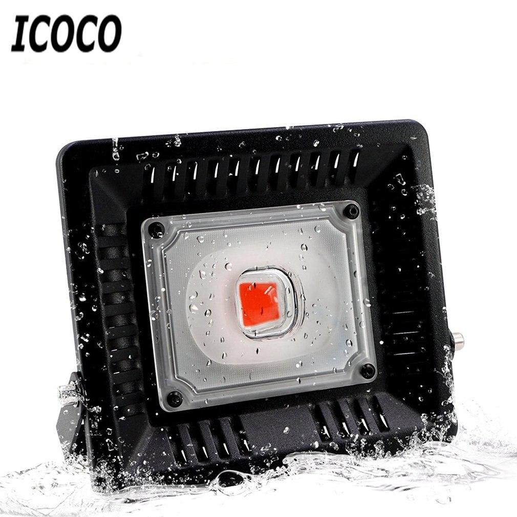 ICOCO plante croissance lampe ampoule LED lampe favorisant la croissance floraison lumière 110V 220V 50W Spot lumière lampe Flexible pour la vente de plantes d'intérieur