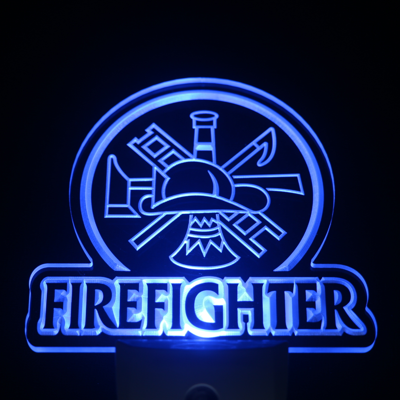 ws0238 Firefighter Department Day/ Night Sensor Led Night Light Sign