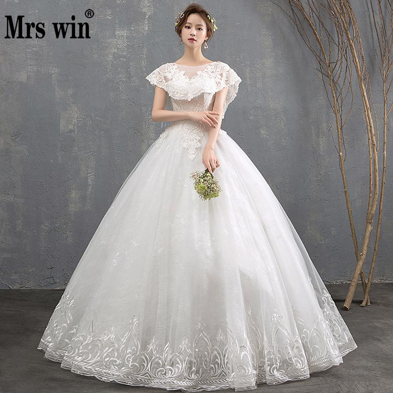 Vintage Wedding Dresses 2019 New Mrs Win Classic Lace