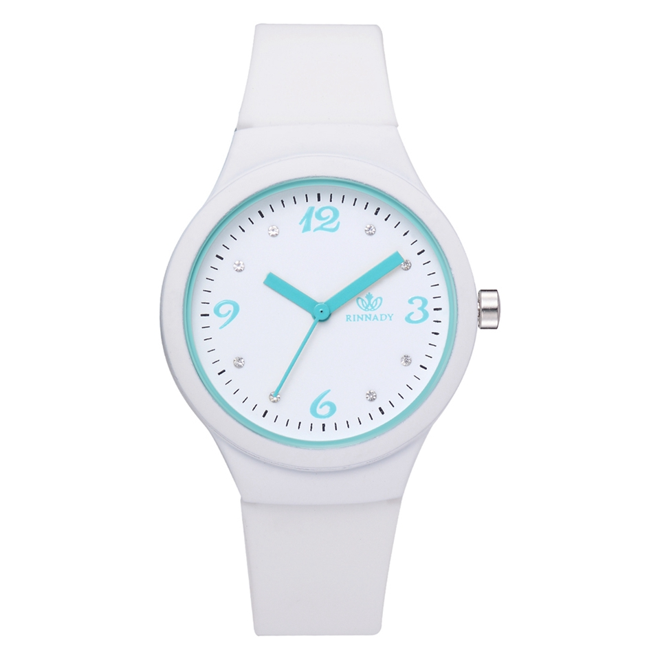 Fashion Silicone Watches For Women Simple White Sports Creative Candy Color Sports Clock Relogio Feminino LS1086