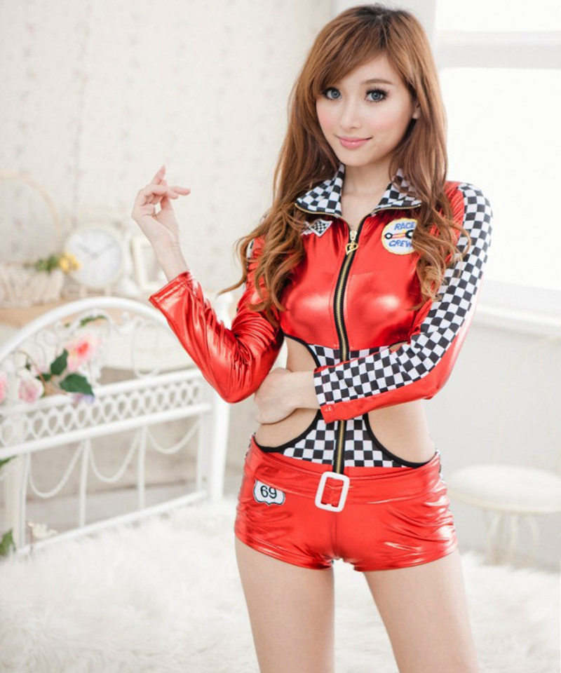 Hot Sexy Car Racing Models Uniform Black Faux Leather Clubwear Zipper Front Cool Lady Pole Dance Performance Costume Back To Search Resultsnovelty & Special Use Costumes & Accessories