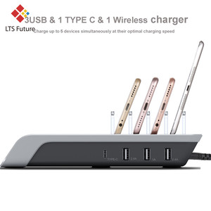 Image 5 - Fast Wireless Charger For iPhone Samsung QC 3.0 Quick Charge Chargers Multi usb Ports Charging Dock Station Desk Phone Organizer